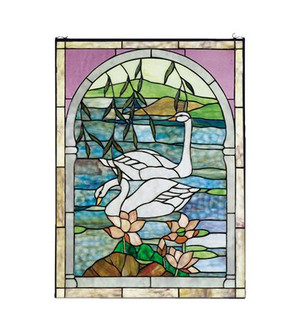 22''W X 30''H Swans Stained Glass Window (96|23868)