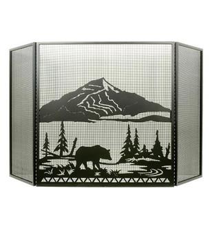 74''W X 40''H Bear Creek Fireplace Screen (96|31617)