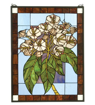 20''W X 26''H Revival Mountain Laurel Stained Glass Window (96|31268)