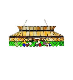 32''L Green Billiard Oblong Pendant (96 28500)