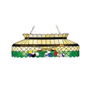 40''L Green Billiard Oblong Pendant (96 28499)