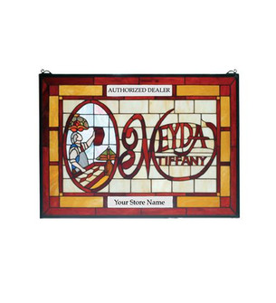 28''W X 20''H MEYDA Tiffany Customizable Stained Glass Window (96|28370)