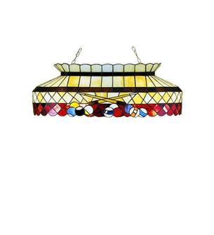 32''L Burgundy Billiard Oblong Pendant (96 27616)