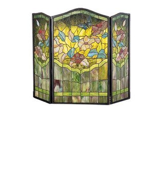 40''W X 34''H Butterfly Fireplace Screen (96|27237)