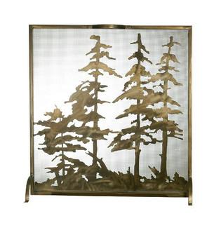32''W X 33''H Tall Pines Fireplace Screen (96|27047)