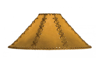 18'' Wide Faux Leather Tan Hexagon Shade (96 26355)