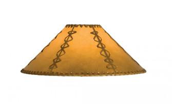 15''W X 8''H Faux Leather Tan Hexagon Shade (96 26354)