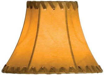 6''W X 4.5''H Faux Leather Tan Hexagon Shade (96 26349)