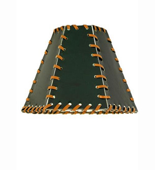 7''W X 5''H Faux Leather Green Hexagon Shade (96 24176)