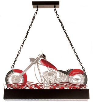38''L Motorcycle Oblong Pendant (96 13588)