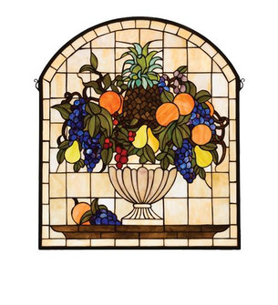 25''W X 29''H Fruitbowl Stained Glass Window (96|13297)