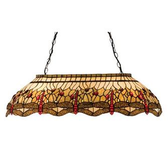 40''L Tiffany Hanginghead Dragonfly Oblong Pendant (96 17508)