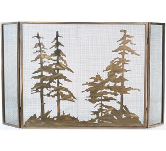 60''W X 34''H Tall Pines Fireplace Screen (96|107632)