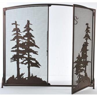 47'' Wide X 43'' High Tall Pines Fireplace Screen (96|106333)