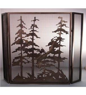 40''W X 30''H Tall Pines Fireplace Screen (96|12393)