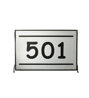 44.5''W X 29''H Personalized 501 Fireplace Screen (96|100858)