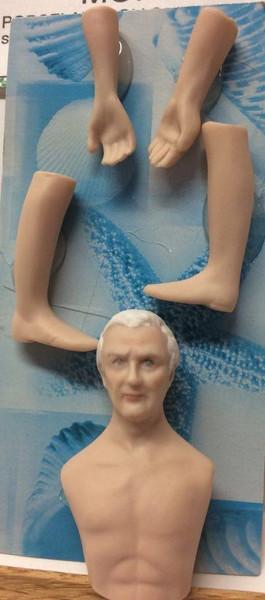 Dollhouse Miniature - Porcelain Doll Kit - Morse - 1:12 Scale - White Hair