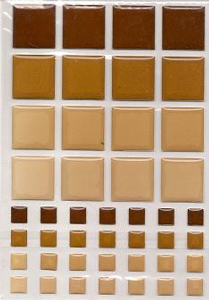 Dollhouse Miniature - 57405 - TILES - BROWN