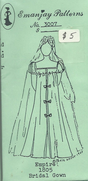 3007 -1805 Empire Wedding Dress - Emanjay Sewing Pattern