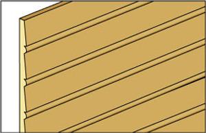 "NE389 - Cle-16 - 1/2"" Beaded Clapboard Siding"