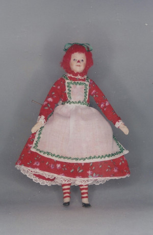 4190064 - Raggedy Ann Pattern & Fabric - Red