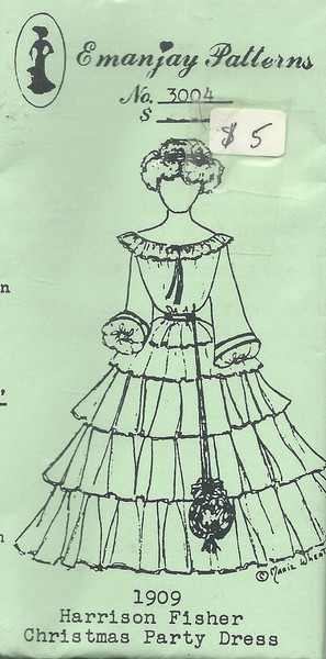 3004 -1909 Harrison Fisher Christmas Dress-Emanjay Sewing Pattern
