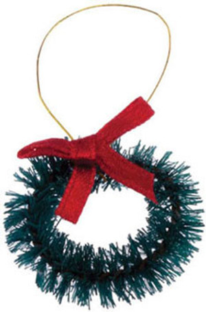 1550 - Christmas Wreath - Red Bow