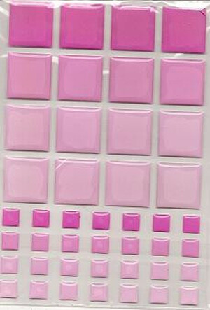 Dollhouse Miniature - 57397 - TILES - PINK