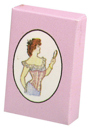 Dollhouse Miniature - LADY'S CORSET BOX - FA40212