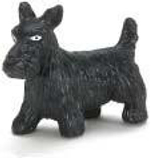 "Dollhouse Miniature - G1741 - 1-1/2""  BLACK SCOTTY DOG"