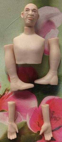 Dollhouse Miniature - Porcelain Doll Kit - Jeb - 1:12 Scale