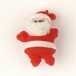 24335 - Flocked Santa Red & White