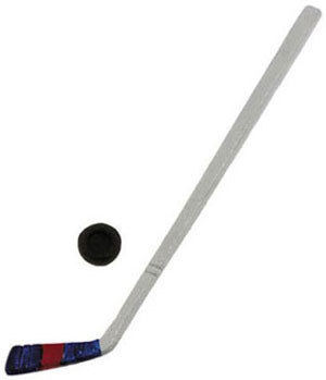 Dollhouse Miniature - Hockey Stick with Puck - IM65118