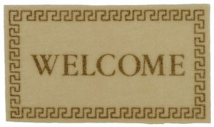 Dollhouse Miniature - IM65111 - Welcome Mat - Ivory