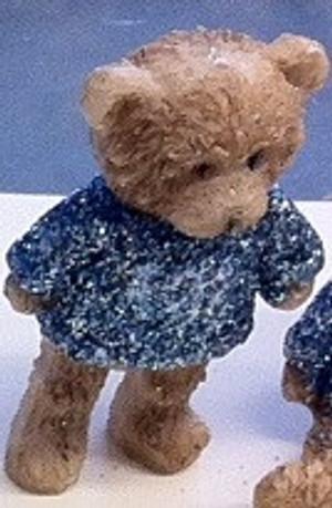 Dollhouse Miniature - 5000 - Bear - Pale Blue Sparkle Top - Standing
