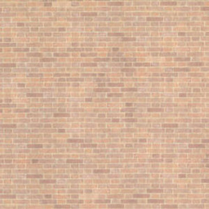 "JMS51 - 1/2"" Scale Wallpaper - Old Red Bricks"