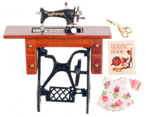 Dollhouse Miniature - G7027 - Deluxe Sewing Machine w/Accessories