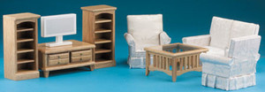 DMMA222 - Oak Living Room Set - 8 pc