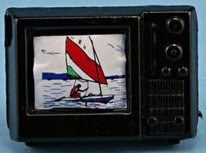Dollhouse Miniature - **DICONTINUED** - IM65392 - Portable TV SET