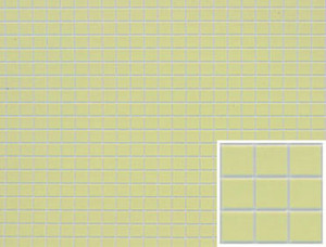 Dollhouse Miniature - FF60620 - Tile:  SQUARE - YELLOW
