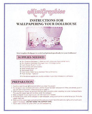 MG118 - How to Wallpaper Your Dollhouse