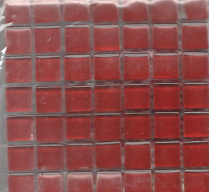 "Dollhouse Miniature - 19701-2 - Glass Tiles - Red - 3/8"" each"