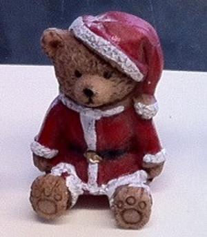 5208 - Bear - Santa Christmas Outfit- Sitting- 4 cm
