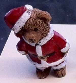 5161 - Bear - Santa Christmas Outfit- Standing - 5 cm