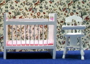 T0022-2 - Nursery Set - CRIB/HIGH CHAIR