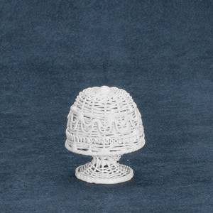 AL114-01 - Alice Lacy - White Boudoir Table Lamp- Non Working