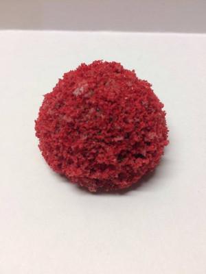 Dollhouse Miniature - LD203LR - Large Round Bush - Red