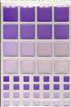 Dollhouse Miniature - 57400 - TILES - PURPLE