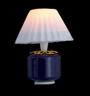 Dollhouse Miniature - T8542 - PURPLE BASE TABLE LAMP - 12v