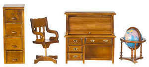 T6635 - Den/Office Set - Walnut - 4 pc